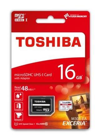 TOSHIBA microSDHC 16GB class 10 UHS1