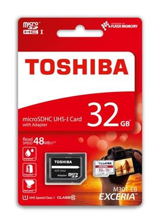 TOSHIBA microSDHC 32GB class 10 UHS1
