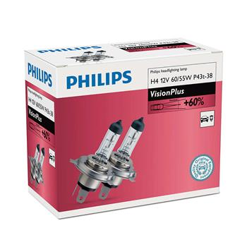 PHILIPS H4 VisionPlus 2 ks