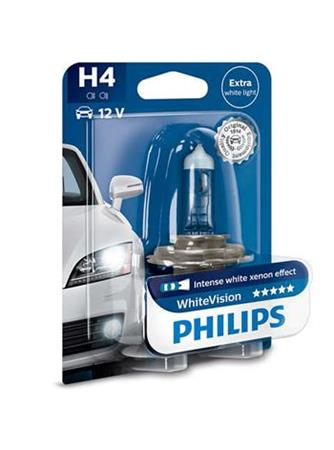 PHILIPS H4 WhiteVision 1 ks