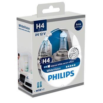 PHILIPS H4 WhiteVision 2 ks