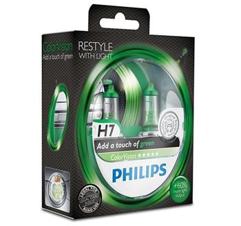 PHILIPS H7 ColorVision Green 2 ks