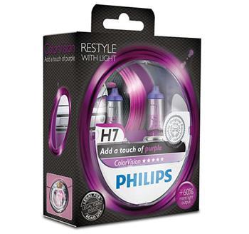 PHILIPS H7 ColorVision Purple 2 ks