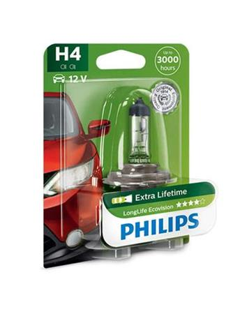 PHILIPS H4 LongLife EcoVision 1 ks