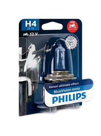 PHILIPS H4 BlueVision Moto 1 ks